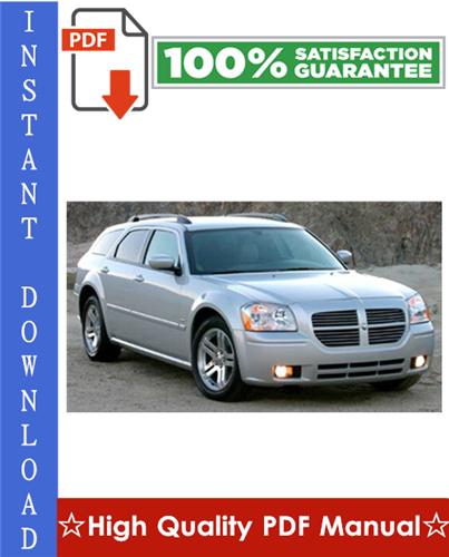 Thumbnail Dodge Magnum Workshop Service Repair Manual 2005-2006 Download