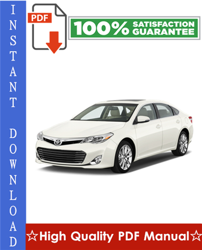 Thumbnail Toyota Avalon Workshop Service Repair Manual 2000-2004 Download