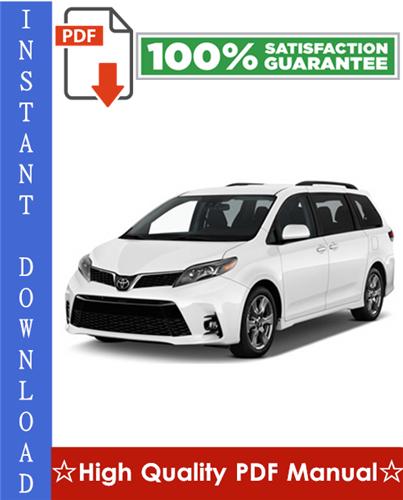Thumbnail Toyota Sienna Workshop Service Repair Manual 2004-2008 Download