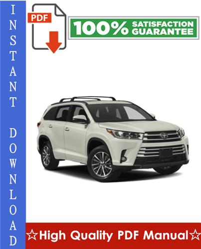 Thumbnail Toyota Highlander Workshop Service Repair Manual 2001-2007 Download