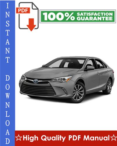 Thumbnail Toyota Camry Hybrid Workshop Service Repair Manual 2007-2009 Download