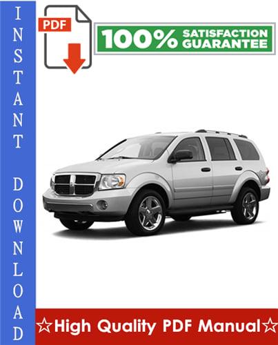 Thumbnail Dodge Durango Workshop Service Repair Manual 2007-2009 Download