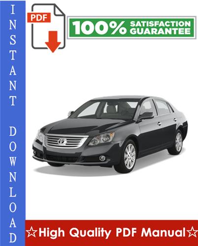 Thumbnail Toyota Avalon Workshop Service Repair Manual 2005-2008 Download