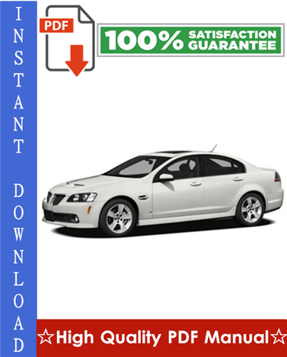 Thumbnail Pontiac G8 Workshop Service Repair Manual 2008-2009 Download