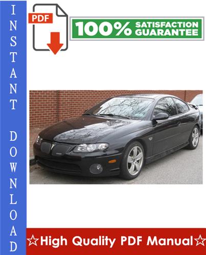 Thumbnail Pontiac GTO Workshop Service Repair Manual 2004-2006 Download