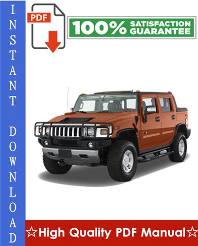 Thumbnail GM Hummer H2 Workshop Service Repair Manual 2003-2007 Download