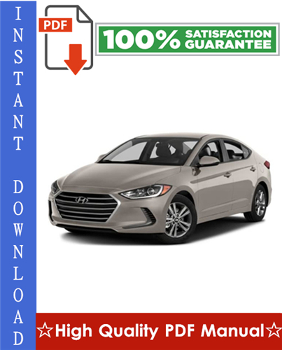 Thumbnail Hyundai Elantra Workshop Service Repair Manual 2002-2006 Download