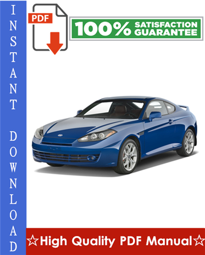 Thumbnail Hyundai Tiburon Workshop Service Repair Manual 1995-2007 Download