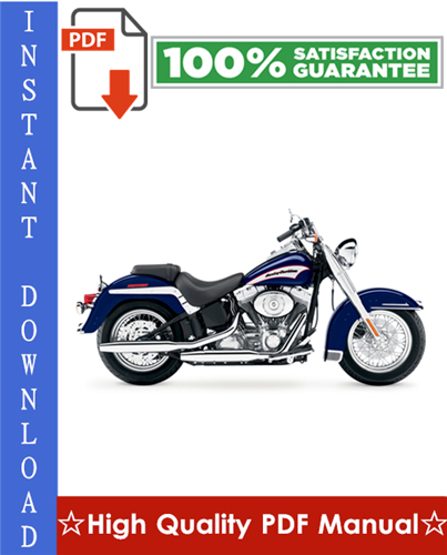 Thumbnail Harley Davidson Softail FLST, FXST Series Motorcycle Workshop Service Repair Manual 2000-2005 Download