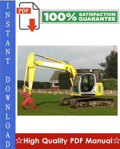 Thumbnail New Holland E115SR, E135SR Hydraulic Excavator Workshop Service Repair Manual