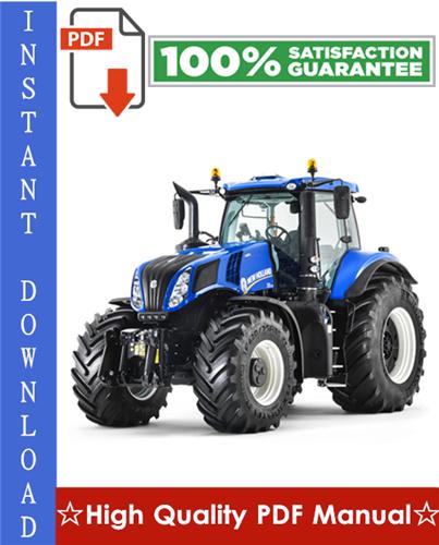 Thumbnail New Holland T8 Series Tractors Workshop Service Repair Manual