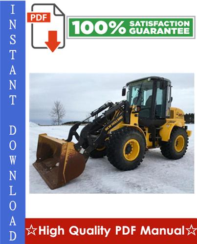 Thumbnail New Holland W110/W110TC Wheel Loader Workshop Service Repair Manual