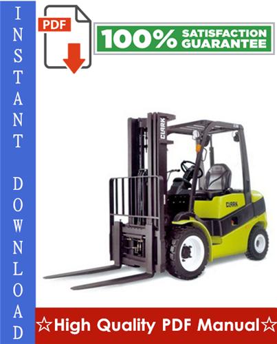 Thumbnail Clark CGP16, CDP16, CGP18, CDP18, CGP20, CDP20 Forklift Trucks Workshop Service Repair Manual