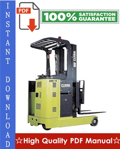 Thumbnail Clark CER10, CER13, CER14, CER15, CER18, CER20, CER25 Forklift Workshop Service Repair Manual