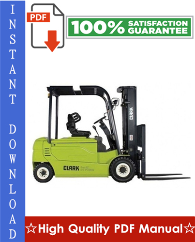 Thumbnail Clark GPX 30, GPX 35, GPX 40, GPX 40S, GPX 50, GPX 55, DPX 30, DPX 35, DPX 40, DPX 40S, DPX 50, DPX 55 Forklift Workshop Service Repair Manual