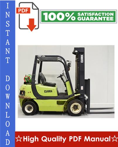 Thumbnail Clark CMP 15, CMP 18, CMP 20, CMP 25, CMP 30 Forklift Workshop Service Repair Manual