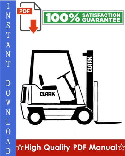 Thumbnail Clark PTT 5/7 Forklift Service & Adjustment Manual