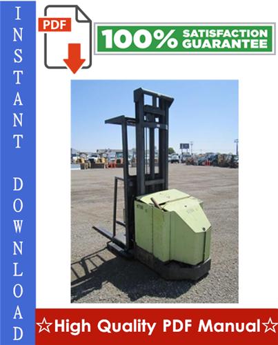 Thumbnail Clark OP7 Forklift Service & Adjustment Manual