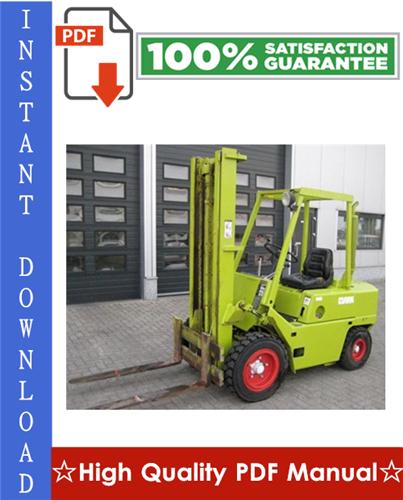 Thumbnail Clark C500-Y180, C500-Y200S, C500-Y225S, C500-Y225L, C500-Y250S, C500-Y250L, C500-Y300S, C500-Y300L, C500-Y350, C500-Y165M, C500-Y200M Forklift Trucks Workshop Service Repair Manual