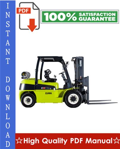Thumbnail Clark GPH 50, GPH 60, GPH 70, GPH 75, DPH 50, DPH 60, DPH 70, DPH 75 Forklift Workshop Service Repair Manual