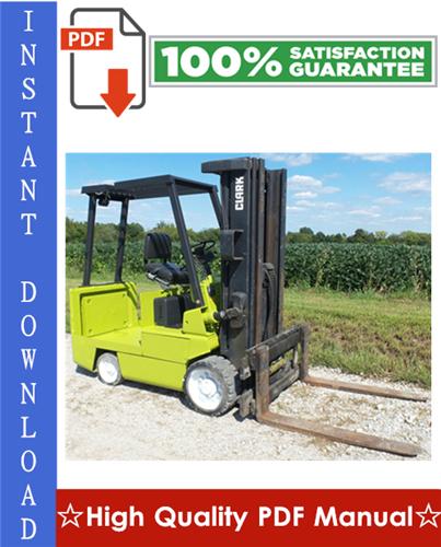 Thumbnail Clark EC500-60, EC500-70, EC500-80 Forklift Trucks Workshop Service Repair Manual
