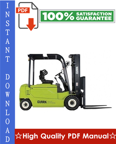 Thumbnail Clark GPX 35, GPX 40, GPX 50E Forklift Workshop Service Repair Manual
