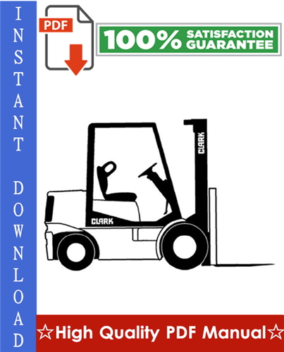 Thumbnail Clark G127, GP127, GL27E, GPL27E Forklift Workshop Service Repair Manual
