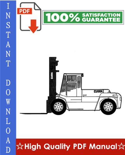 Thumbnail Clark CDP 100, CDP 164 Forklift Workshop Service Repair Manual