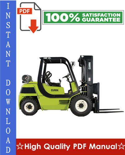 Thumbnail Clark CMP 40, CMP 45, CMP 50S Forklift Workshop Service Repair Manual