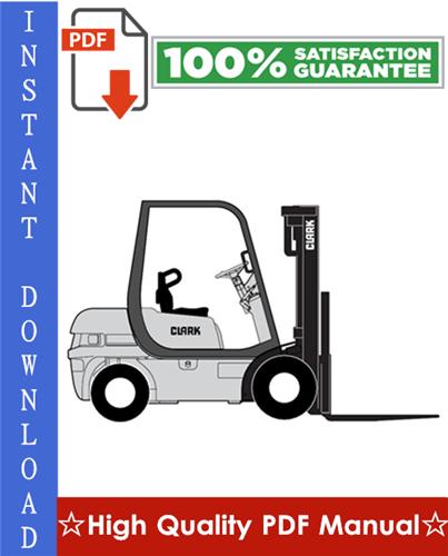 Thumbnail Clark CMP15L, CMP18L, CMP20SL, CMP15D, CMP18D, CMP20SD Forklift Trucks Workshop Service Repair Manual