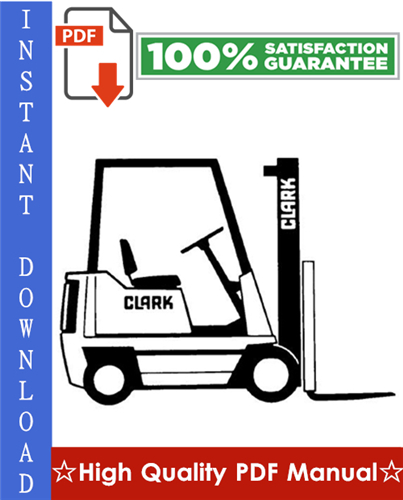 Thumbnail Clark NS/NP 246 (P.M.) Forklift Service & Adjustment Manual