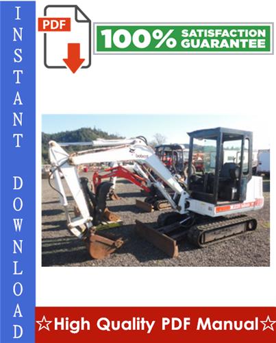 Thumbnail Bobcat X231 Excavator Workshop Service Repair Manual (S/N 508912001 & Above)