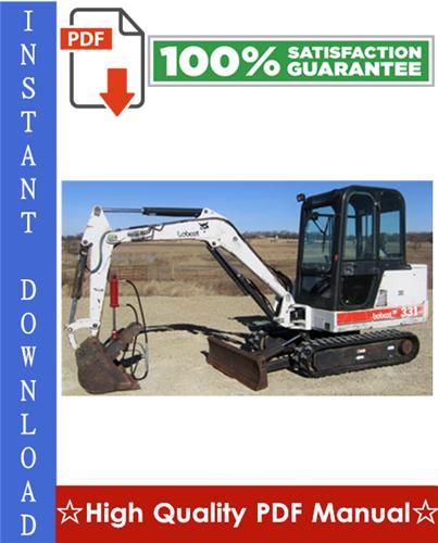 Thumbnail Bobcat 331, 331E, 334 Excavator Workshop Service Repair Manual (331 - S/N 234311001 - 234312999, 331E - S/N 234411001 - 234411999, 334 - S/N 234511001 - 234512999, G Series)