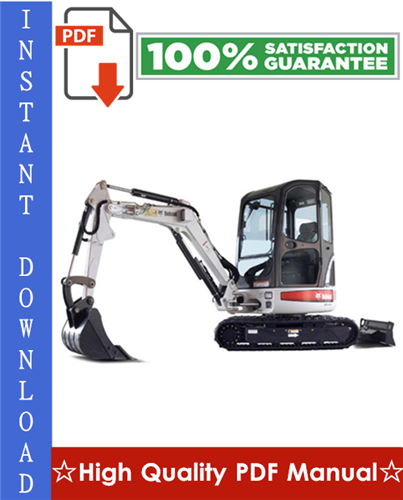 Thumbnail Bobcat 425, 428 Compact Excavator Workshop Service Repair Manual (425 S/N AACJ11001 & Above, 425 S/N A9K311001 & Above, 428 S/N A9K411001 & Above)
