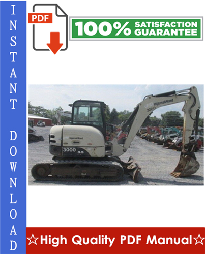 Thumbnail Ingersoll Rand ZX75, ZX125 Load Excavator Workshop Service Repair Manual