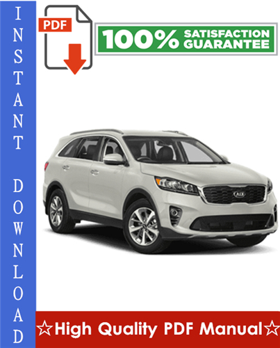 Thumbnail Kia Sorento Workshop Service Repair Manual 2003-2008 Download