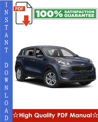 Thumbnail Kia Sportage Workshop Service Repair Manual 2006-2008 Download