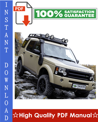 Thumbnail Land Rover Discovery 3 LR3 Workshop Service Repair Manual
