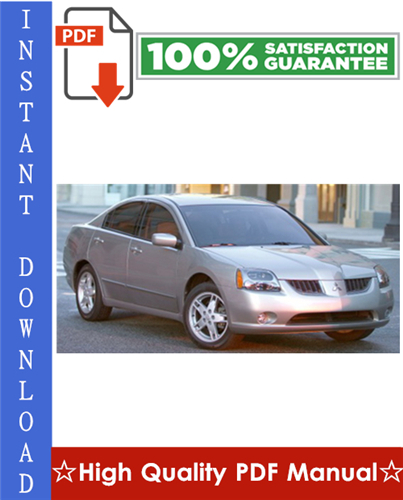 Thumbnail 2007 Mitsubishi Galant Workshop Service Repair Manual