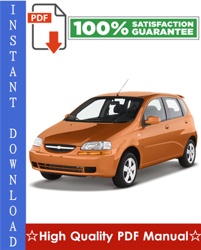 Thumbnail Chevy Chevrolet Aveo Workshop Service Repair Manual 2002-2010 Download