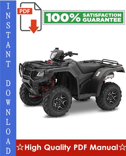 Thumbnail Honda TRX500FA, TRX500FGA, TRX500FPA Fourtrax Foreman Rubicon Workshop Service Repair Manual 2005-2012 Download