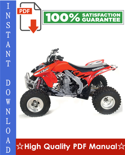 Thumbnail Honda TRX450R / TRX450ER Workshop Service Repair Manual 2004-2006 Download