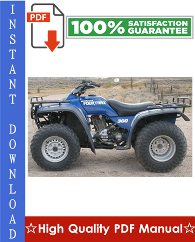 Thumbnail Honda TRX300 / TRX300FW FOURTRAX Workshop Service Repair Manual 1995-2000 Download