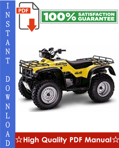 Thumbnail Honda TRX450S / TRX450FM / TRX450ES / TRX450FE FOURTRAX FOREMAN ATV Workshop Service Repair Manual 1998-2004 Download
