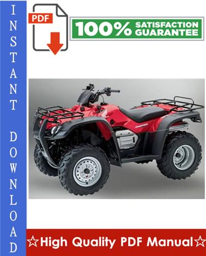 Thumbnail Honda TRX400FA / TRX400FGA Fourtrax Rancher Workshop Service Repair Manual 2004-2007 Download