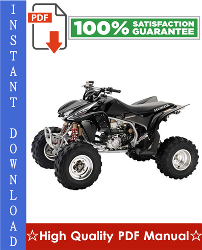 Thumbnail Honda TRX450R / TRX450ER Workshop Service Repair Manual 2004-2009 Download