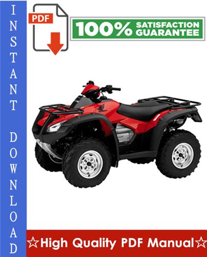 Thumbnail Honda TRX680FA / TRX680FGA Workshop Service Repair Manual 2006-2011 Download