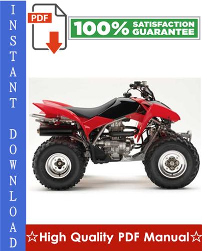 Thumbnail Honda TRX250EX / TRX250X Sportrax Workshop Service Repair Manual 2006-2011 Download