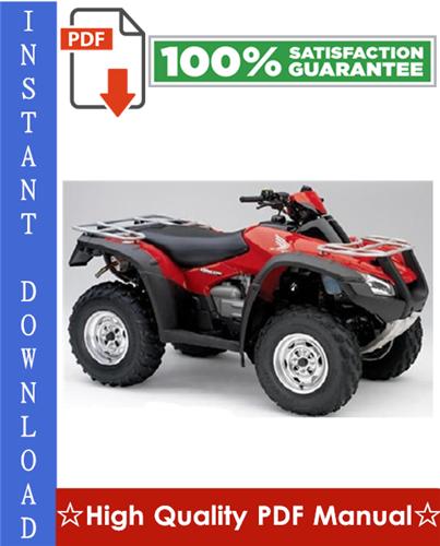 Thumbnail 2006 Honda TRX680FA / TRX680FGA Workshop Service Repair Manual