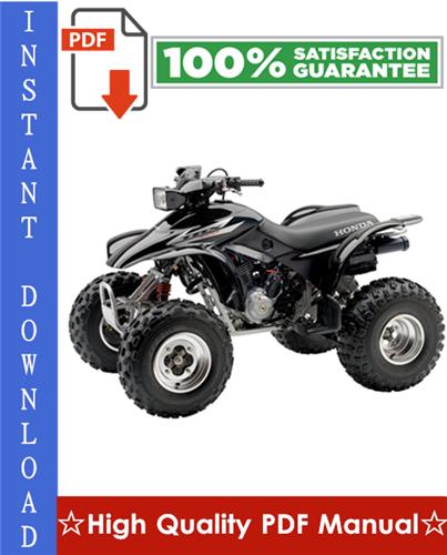 Thumbnail Honda TRX300EX / TRX300X Workshop Service Repair Manual 2007-2009 Download